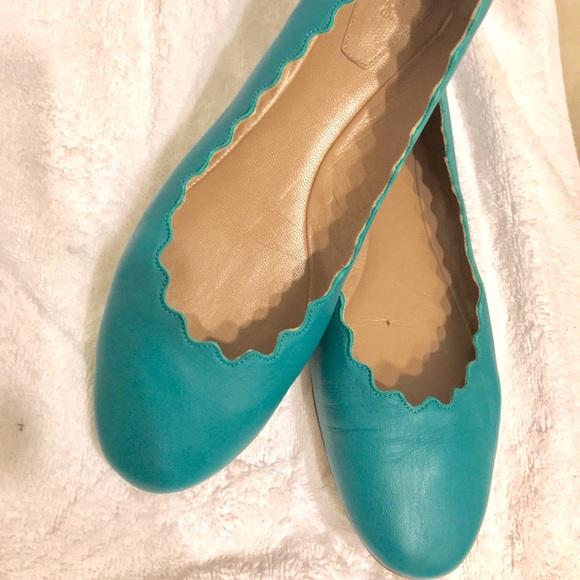 56aa9cb1f46c3c Chloe Shoes | Teal Ballet Flat Size 375 | Poshmark